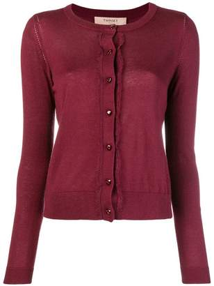 Twin-Set long-sleeve fitted cardigan