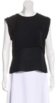 Veronica Beard Short Sleeve Silk Top