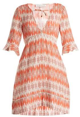 Heidi Klein Punta Del Este Cotton Voile Kaftan - Womens - Orange Print