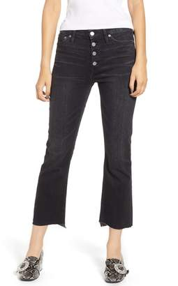 J.Crew Billie Exposed Buttons Demi-Boot Crop Jeans