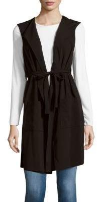 BCBGMAXAZRIASolid Foldover-Collar Vest