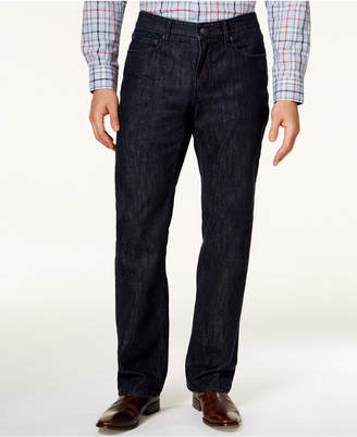 Alfani Straight-Leg Dark Blue Wash Jeans, Created for Macy's