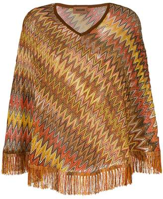 Missoni embroidered fringed sweater