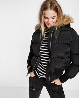 Express short extreme puffer coat