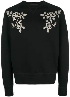 DSQUARED2 floral embroidered sweatshirt