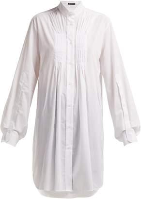 Ann Demeulemeester Oversized pleat-front cotton shirt