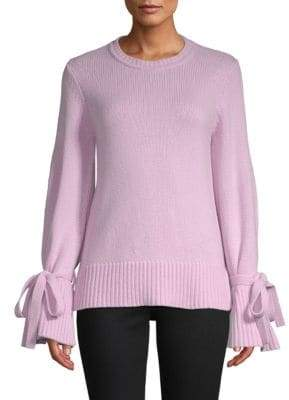 ADAM by Adam Lippes Bell-Sleeve Crewneck Sweater