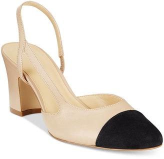 Ivanka Trump Liah Slingback Block-Heel Pumps $125 thestylecure.com