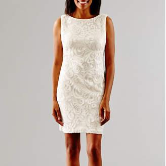 S. L. Fashions SL Fashions Sleeveless Sequin Wedding Dress