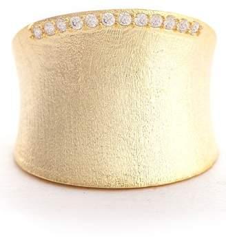 Rivka Friedman Satin CZ Concave Bold Ring