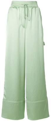 Off-White satin wide-leg trousers