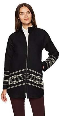 Pendleton Women's Wool Swing Coat with Chimayo Pattern