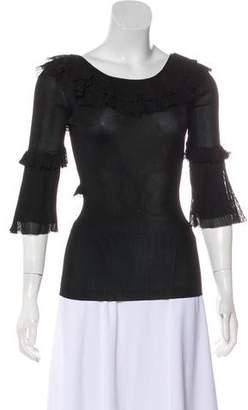 Dolce & Gabbana Ruffled Off-the-Shoulder Top