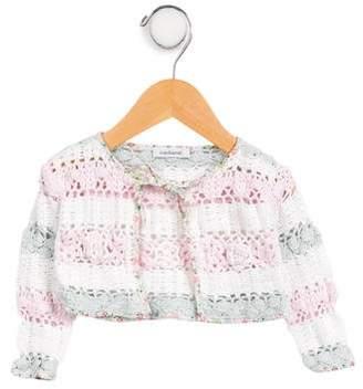 Cacharel Girls' Crochet Cardigan