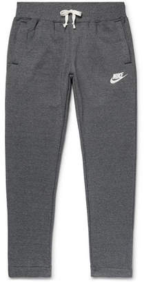 Nike Sportswear Heritage Tapered Mélange Loopback Cotton-Blend Jersey Sweatpants