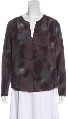 10090176261609 Rebecca Taylor Long Sleeve Silk Blouse