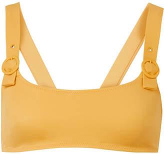 Solid & Striped The Evelyn Bikini Top - Mustard