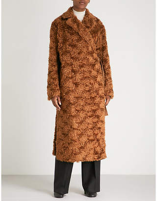 Jil Sander Falkland mohair and cotton-blend teddy coat