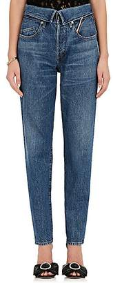 Atelier Jean Women's Flip Straight Jeans - Dk. Blue
