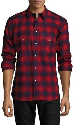 Givenchy Men's Flap Pocket Plaid Sportshirt