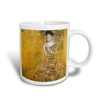 3dRose Klimts Portrait In Gold, Ceramic Mug, 11-ounce