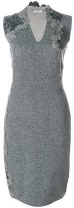 D-Exterior D.Exterior v-neck fitted dress