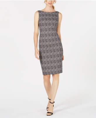 Calvin Klein Embellished Plaid Sheath Dress