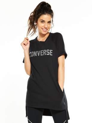 Converse Short Sleeve Sweatshirt Dress - Black
