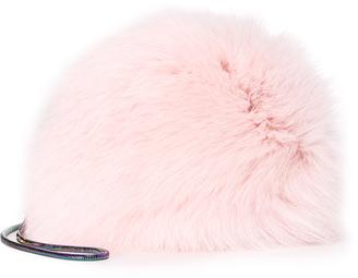 Diane von Furstenberg Love Power Fur Puff Mini Bag $198 thestylecure.com