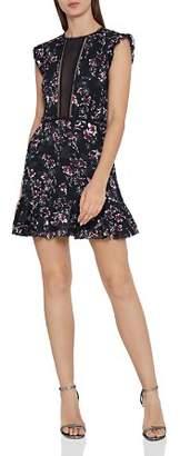 Reiss Alexandra Floral Burnout Mini Dress