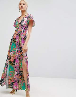 Asos Scarf Print Maxi Dress
