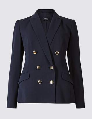 Marks and Spencer Double Breasted Gold Button Jacket