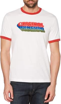 Original Penguin Retro Logo Ringer T-Shirt