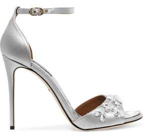 Dolce & Gabbana Swarovski Crystal-Embellished Satin Sandals