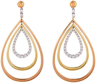 Damiani 18K Tri-Tone 1.09 Ct. Tw. Diamond Earrings