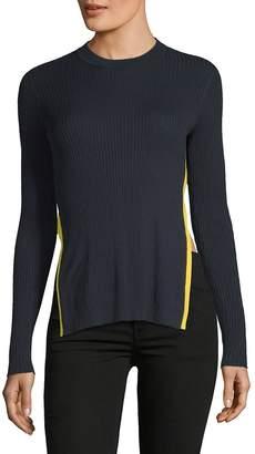 Each X Other Women's Rib Knit Split Long Sleeve Top