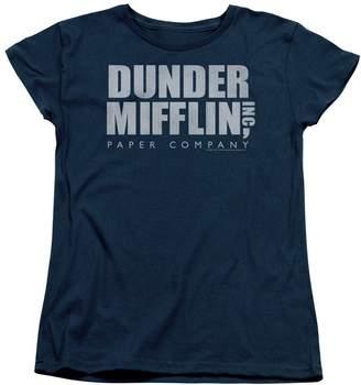 Office The Sitcom Mockumentary Series Dunder Mifflin Logo Women's T-Shirt Tee