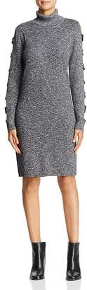 Love Scarlett Ladder Cutout Sleeve Sweater Dress