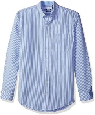 Izod Men's Big and Tall Advantage Performance Long Sleeve Stripe Shirt
