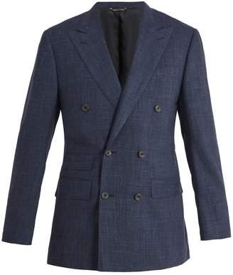THOM SWEENEY Peak-lapel wool-blend blazer