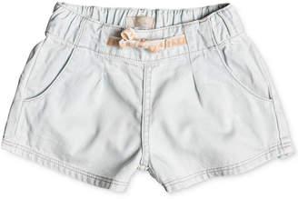 Roxy Pull-On Cotton Denim Shorts, Toddler Girls