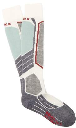 Falke - Sk2 Knee High Cushioned Ski Socks - Womens - Green Multi