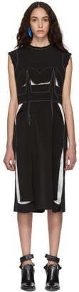 Maison Margiela Black Decortique Embroidered Dress