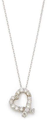Must-Have Jewelry K18WG ダイヤモンド ハートモチーフ ネックレス ホワイトゴールド