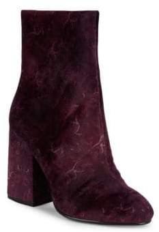 Ash Fedora Paisley Velvet Ankle Booties
