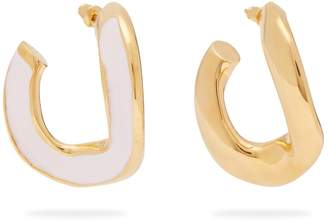 Marni Open hoop enamel earrings