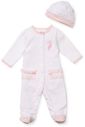 Little Me Ballerina Footie And Hat Set