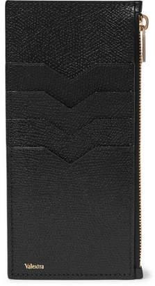 Valextra Full-Grain Leather Zipped Cardholder