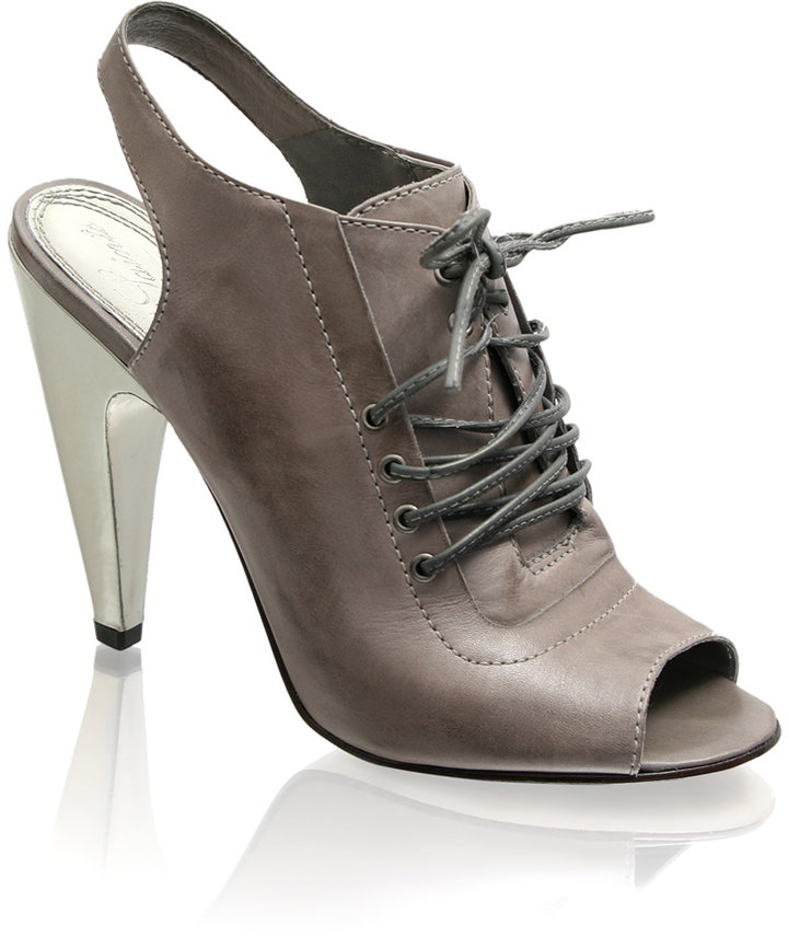 All Saints Contrast Heel Lace Up Shoe