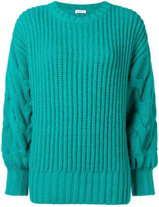 P.A.R.O.S.H. ribbed cable knit jumper